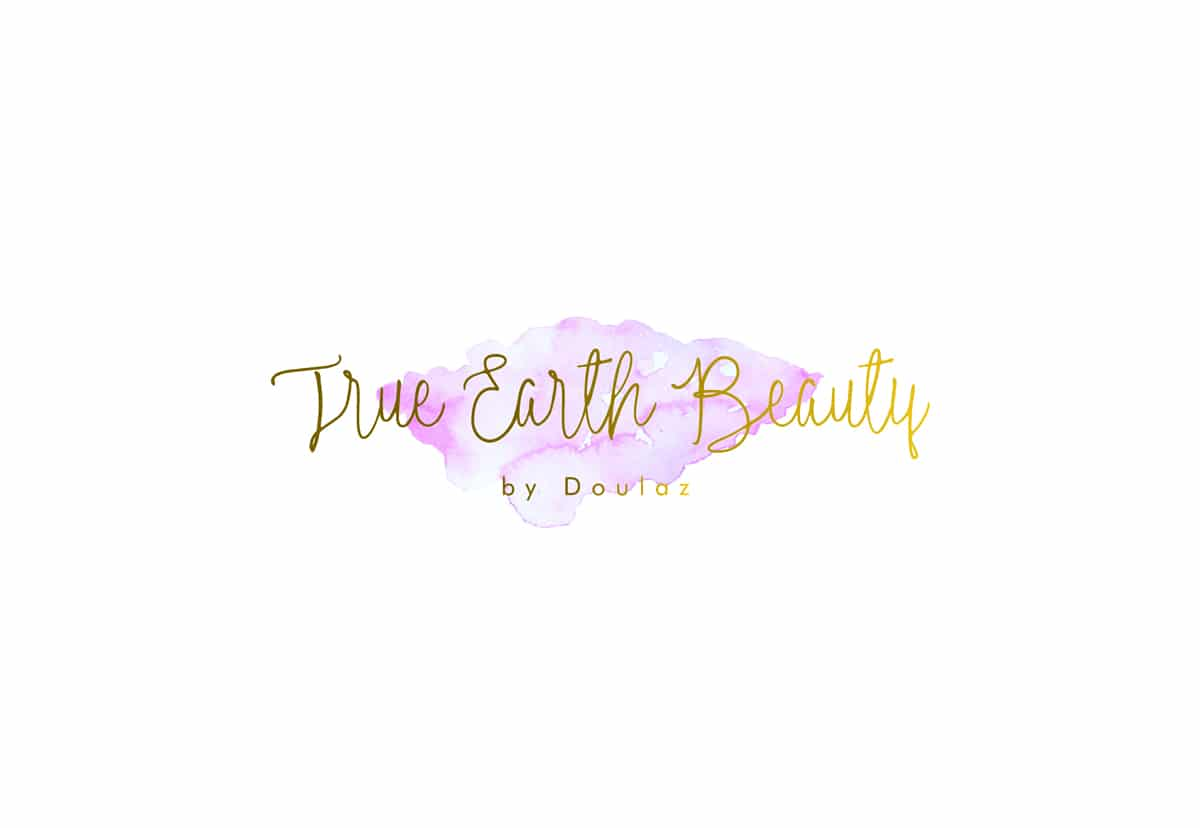 Logo we designed for True Earth Beauty, an all natural beauty and cosmetics brand