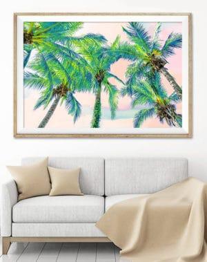 Shop Dreamy Palms Art Print by artist Uma Gokhale 83 Oranges unique artist-designed wall art & home décor